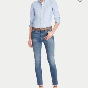 💗Ralph Lauren Fitted Button Up Oxford Shirt Sz 4